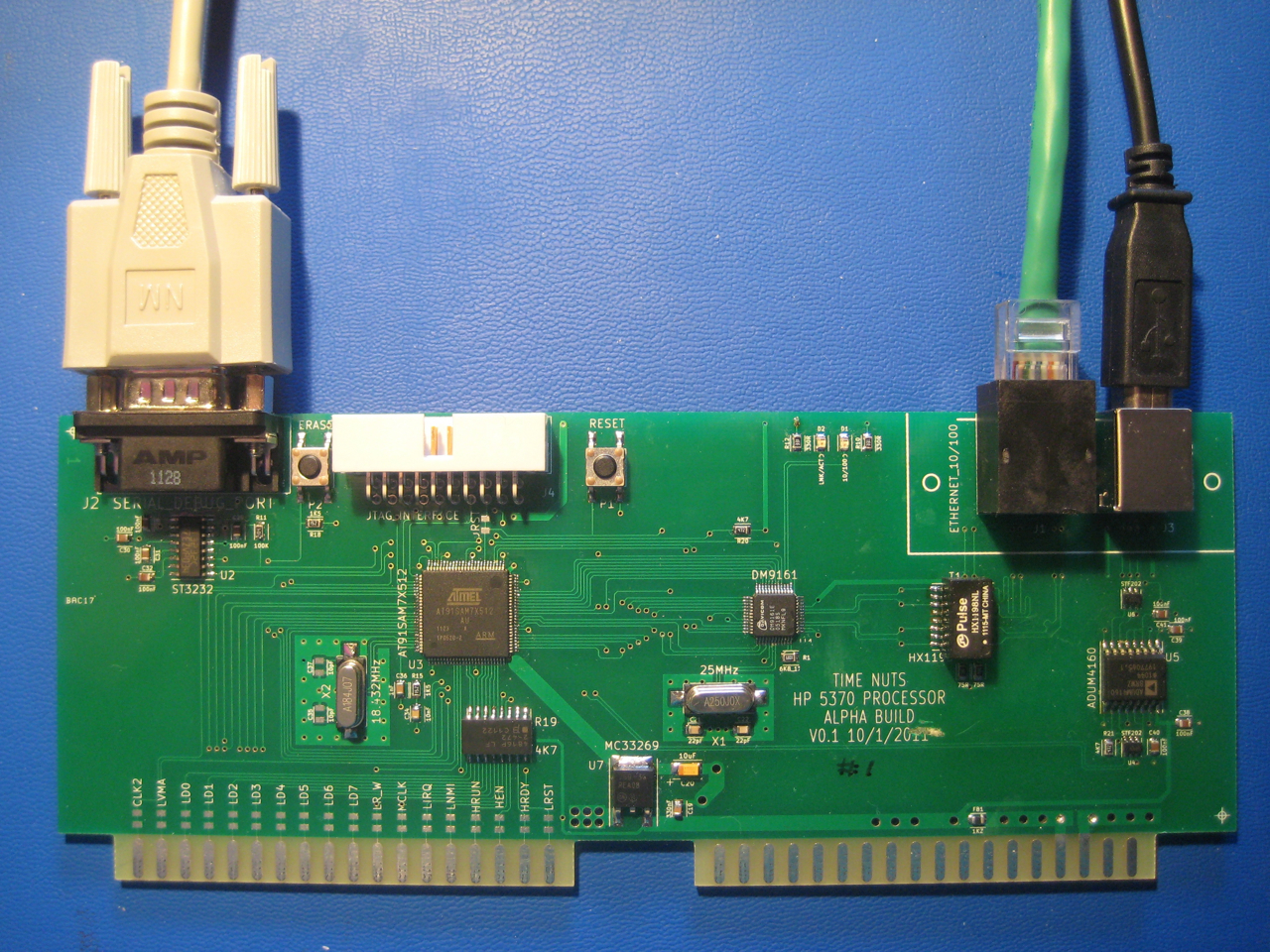 Hp5370 Processor Replacement Project How To Create A Printed Circuit Board Pcbsection 1 New Card Installed Note Absence Of Old Rom And Hpib Cards The Rectangular Section Pcb Holding Ethernet Usb Connectors Is Designed